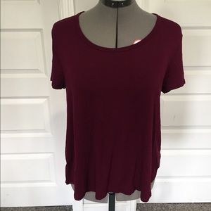 Merona wine red t-shirt medium